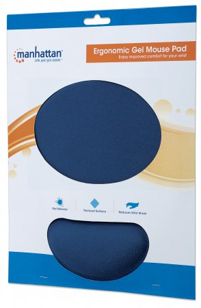 Mouse Pad c/Gel Azul Manhattan