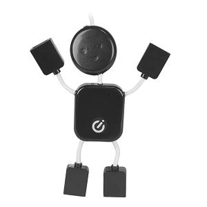 Adaptador Vivitar USB 2.0 4P Hub Man Negro