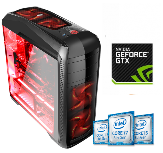 Equipo Intel Core I3 serie K Coffee Lake Full Gamer con GTX1060 6Gb